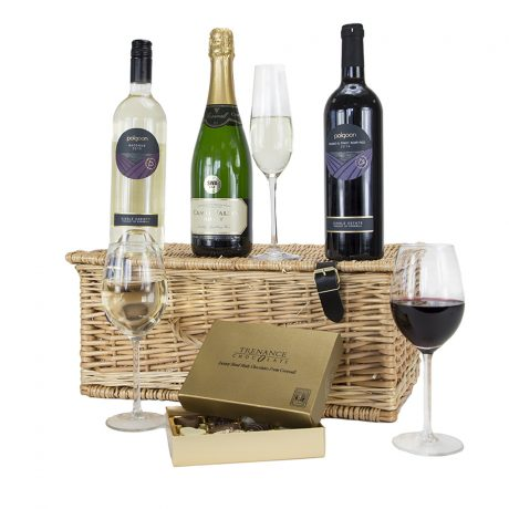 Cornish Wine and Chocolate Hamper